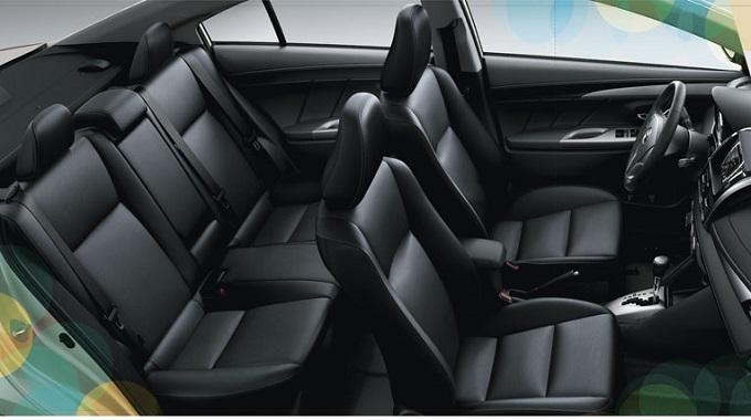 Nội thất Toyota Vios 1.5G 2016 Ghế Da